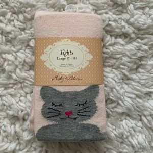 Kitty Stretch Cotton Tights RUBY & BLOOM